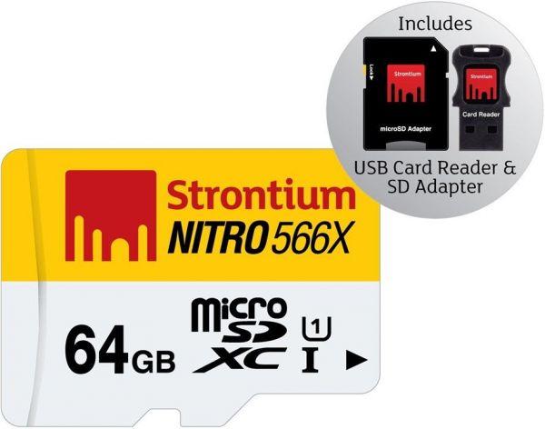 Micro SDXC Card, 64GB inkl. SD Adapter u. Kartenleser